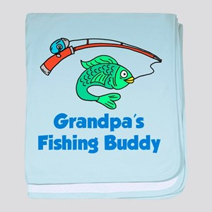 Grandpas Fishing Buddy baby blanket